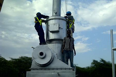 Africa engineer instal the incinerator(YD Model).
